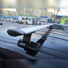 """Багажник на крышу с аэродинамическими поперечинами Saab 9-3 2003-2012 """"Крыло"""" (в штатные места)"""