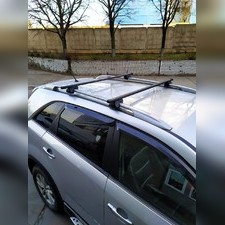 """Прямоугольные поперечины на рейлинги Lada (ВАЗ) Largus 2012-нв Минивен """"Favorit"""""""
