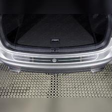 Накладка на задний бампер (лист шлифованный логотип VW)
