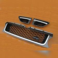 Решетка радиатора Autobiography (+жабры) Range Rover Sport (черная)