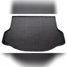 Коврик в багажник Toyota Rav 4 2013-2019 (с докаткой, черный)