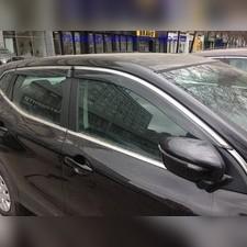 Дефлекторы окон с нержавеющим молдингом Subaru Forester 2013 - 2018 (комплект)