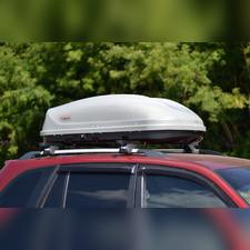 """Бокс на крышу аэродинамический серый """"Turino Compact"""" (одностороннее открытие) 360 л 141х83х45 см"""