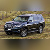 Рейлинги комплект Toyota Land Cruiser Prado 150 2017 - нв (черные)