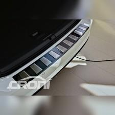 Накладка на задний бампер с загибом BMW X5 F15 (матовая шлифованная)