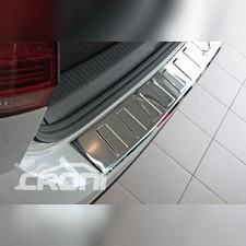 Накладка на задний бампер с загибом BMW X5 F15 (хром нерж)