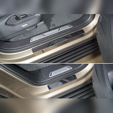 Накладки на пороги (лист шлифованный без названия марки автомобиля) 4 шт