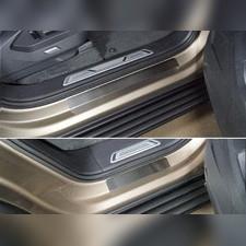 Накладки на пороги (лист зеркальный без названия марки автомобиля) 4 шт