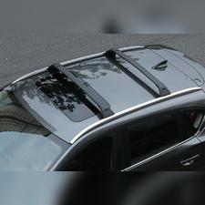 Багажник на штатные интегрированные рейлинги Mazda CX5 2017-нв, (черные)
