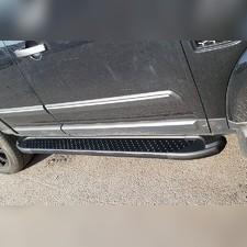 Комплект алюминиевых порогов, модель (Sapphire Black)