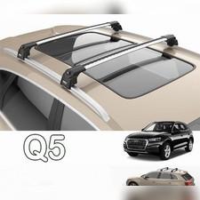 """Багажник аэродинамический Audi Q5 на интегрированные рейлинги с замком, модель """"Air 2"""""""