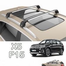 """Багажник BMW X5 2014 - 2018 аэродинамический на интегрированные рейлинги с замком, модель """"Air 2"""""""
