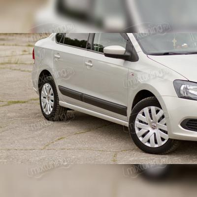 Молдинги на двери Volkswagen Polo V 2009-2016 (шагрень)