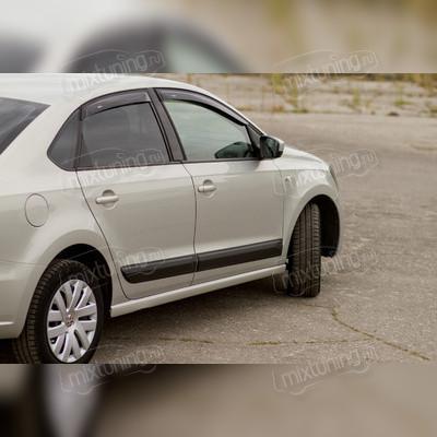Молдинги на двери Volkswagen Polo V 2009-2016 (глянец под окраску)