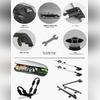 """Багажник BYD S6 2011 - 2015 аэродинамический на рейлинги с замком, модель """"Air 1 Black"""""""