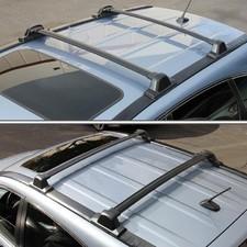 Штатные аэродинамические поперечины на Honda CR-V 2007-2012 (черные)