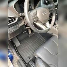 "Коврики в салон Hyundai Santa Fe 2018 - нв ""3D Lux"" (комплект), аналог ковров WeatherTech (США)"