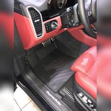 "Ковры салона Porsche Cayenne 2017 - нв, ""3D Lux"", аналог ковров WeatherTech (США)"