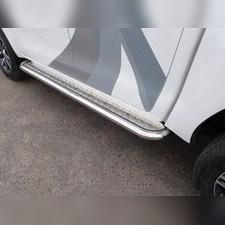 Пороги с площадкой (алюминиевый лист) d60,3 мм