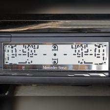 Комплект рамок под номер (гравировка логотипа марки и модели автомобиля)