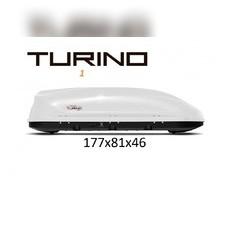"""Бокс на крышу аэродинамический белый матовый """"Turino 1"""" (одностороннее открытие)177х81х46 см"""