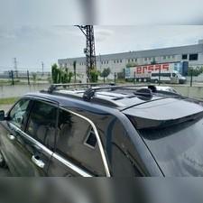 Багажник аэродинамический на рейлинги с замком для Jeep Grand Cherokee (черные)