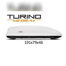 """Бокс на крышу, белый """"Turino Medium"""" аэродинамический (одностороннее открытие) 460 л 191х79х46 см"""