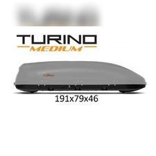 """Бокс на крышу, серый """"Turino Medium"""" аэродинамический (одностороннее открытие) 460 л 191х79х46 см"""