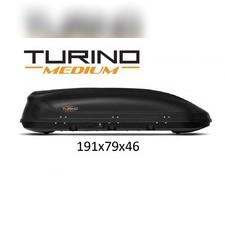 """Бокс на крышу, черный """"Turino Medium"""" аэродинамический (одностороннее открытие) 460 л 191х79х46 см"""