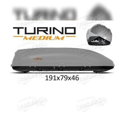"""Бокс на крышу аэродинамический серый """"Medium"""" (двустороннее открытие 191х79х46 см) 460 л"""