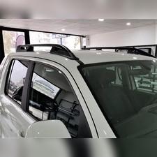 """Рейлинги усиленные на Volkswagen Amarok, модель """"Falcon Black"""" без задней поперечины"""