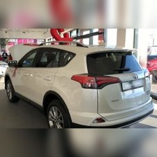 Рейлинги алюминиевые на Toyota RAV 4 2013 - нв (серебристые)