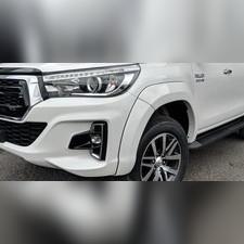 Расширители колесных арок на Toyota Hi-lux 2018-нв (под покраску)