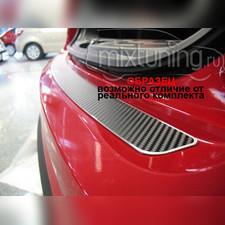 """Накладка на задний бампер с названием модели автомобиля, серия """"Premium Carbon"""""""