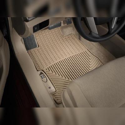 Комплект резиновых ковриков 1-ый, 2-ой и 3-ий ряд, бежевые