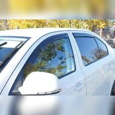 Дефлекторы, ветровики окон вставные (дымчатные), на кузов седан (передние)