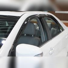 Дефлекторы, ветровики окон Toyota Camry 2011 - 2015, комплект из 4-х частей (темные)
