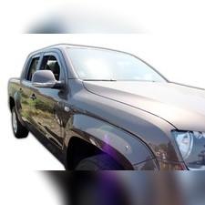 Дефлекторы, ветровики окон вставные (дымчатные), на кузов пикап