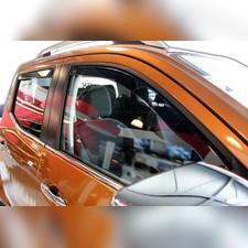 Дефлекторы, ветровики окон вставные (дымчатные), на кузов 5d хетчбек