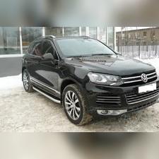 """Пороги, подножки, ступени Volkswagen Touareg 2010 - 2018, модель """"Alyans"""""""