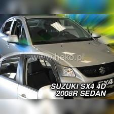 Дефлекторы, ветровики окон вставные (дымчатные), на кузов седан
