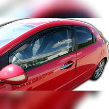 Дефлекторы, ветровики окон вставные (дымчатные), на кузов 3d хетчбек