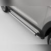 """Комплект алюминиевых порогов с пластмассовой накладкой, модель """"BRILLIANT SILVER"""""""