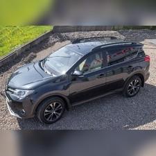 Рейлинги Toyota Rav 4 2015-2019 Черные (копия оригинала OEM Stile)
