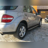 Пороги, подножки, ступени Mercedes-Benz ML-class 2005 - 2011 (OEM Style)