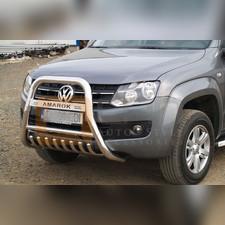 """Передняя защита 70мм с логотипом """"AMAROK"""" с защитой картера"""