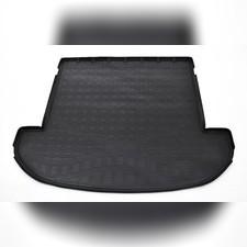 Коврик в багажник (черный) для Hyundai Santa Fe (2018-) (7 мест, длинный)
