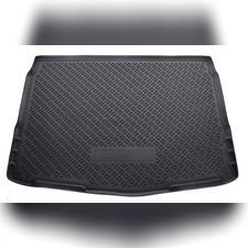Коврик в багажник (черный) для Nissan Qashqai 2017 -нв (с полноразмерной запаской 17 Ал)