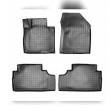 Коврики в салон (черные) 3D для Hyundai Santa Fe 3D (2018-) (7 мест)