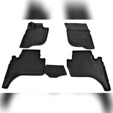 Коврики в салон (черные) для Mitsubishi L200 3D (2007)\ Fiat Fullback 3D (2016)